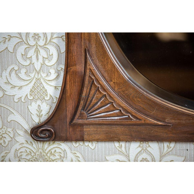 20th-Century Crystal Mirror in a Wooden Frame (1927) For Sale - Image 9 of 13