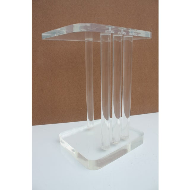 Mid-Century Modern Lucite Side Table - Image 6 of 11