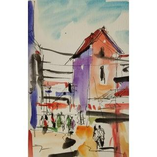 Jose Trujillo Original Watercolor Painting For Sale