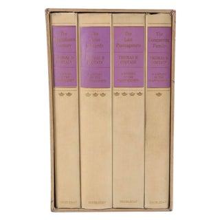 Vintage Violet Bound Books - Set of 4 For Sale