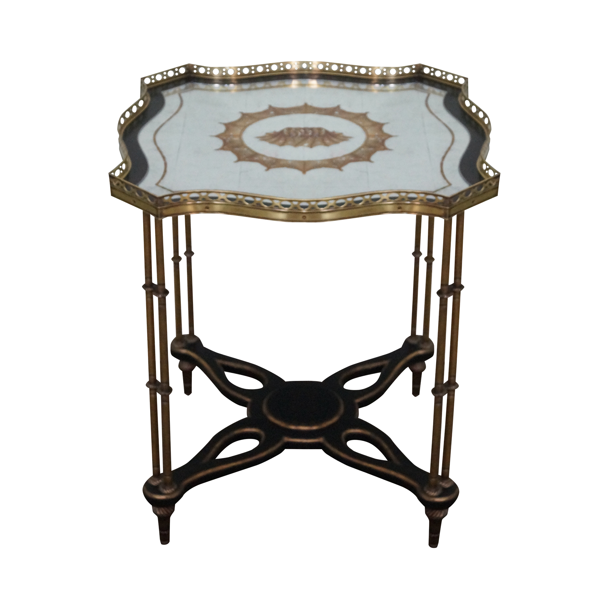 john richard regency eglomise mirror top table