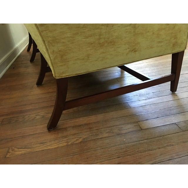 Mid Century Modern Crushed Velvet Camelback Sofa For Sale - Image 9 of 11