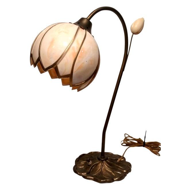 Mid-Century Faux Slag Tulip Desk Lamp - Image 1 of 7
