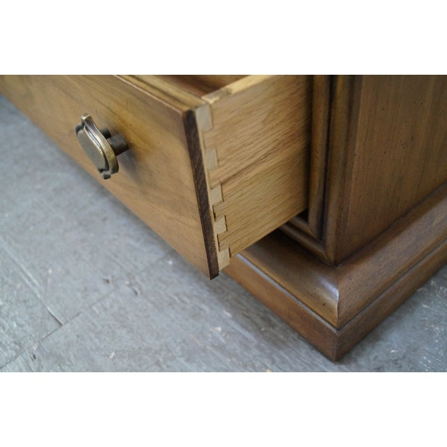 Drexel Plaudit Vintage Pair of Walnut 1 Drawer Nightstands AGE/COUNTRY OF ORIGIN: Approx 50 years, America...
