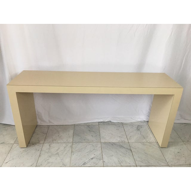 Wood 1970's Minimalist Parsons Sofa Table For Sale - Image 7 of 8