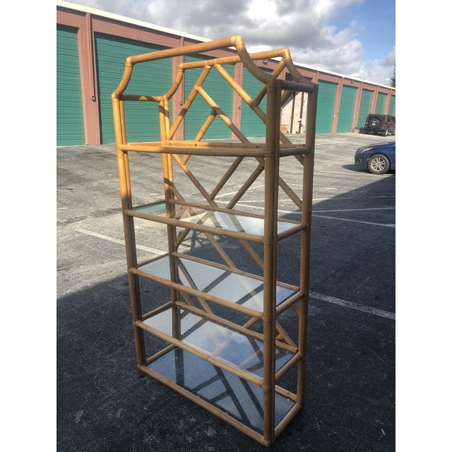 Vintage Tall Bamboo Etagere For Sale - Image 9 of 10