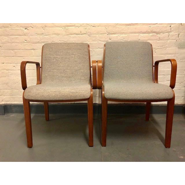 1980s Vintage Mid-Century Modern Bill Stephens for Knoll Chairs - A Pair For Sale - Image 11 of 12