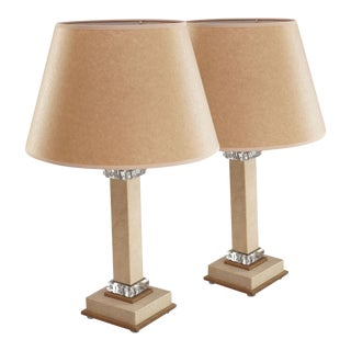 Shagreen and Crystal Lamps