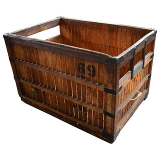 Industrial Storage Crate Number 69 For Sale