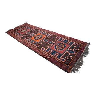 Hand Knotted Tribal Rug Kurdish Area Rug Large Runner - 5′ X 14′1″