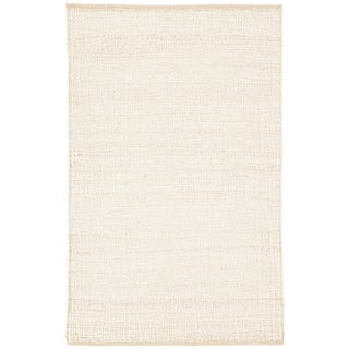 Jaipur Living Anthro Natural Solid Cream Area Rug - 9′ × 12′ For Sale