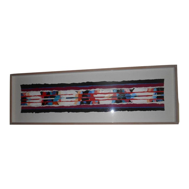 Abstract Art Painting Signed - Image 1 of 6