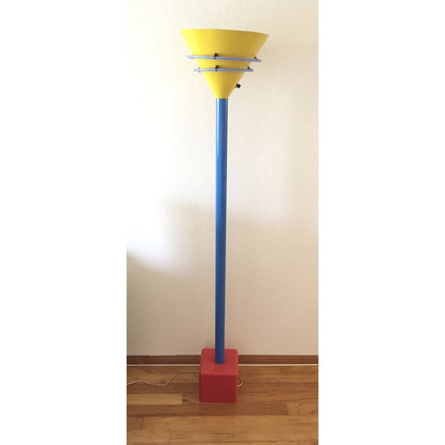 Fabulous Postmodern/Memphis era floor lamp in primary colors. The Memphis Group was an Italian design and architecture...