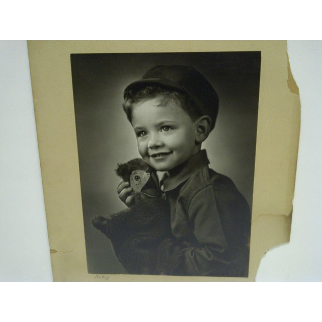 American C. 1930 Black & White Photograph Ricky by Vincent Evans For Sale - Image 3 of 6