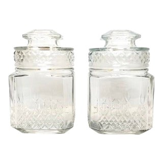 1970s Koeze's Glass Jars - a Pair For Sale