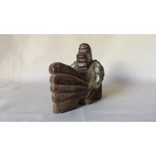 1960s Vintage Modernist Studio Art Pottery Stoneware Fish Sculpture Preview