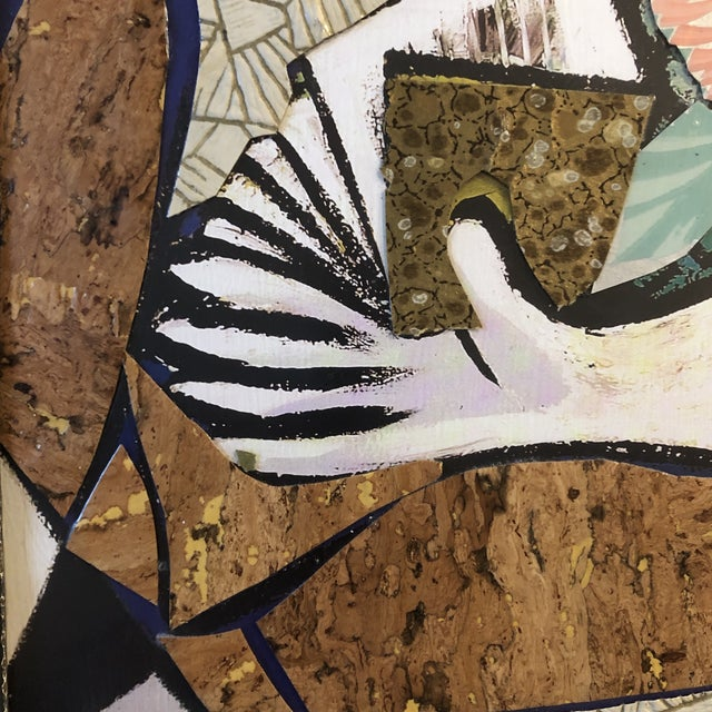 Original Contemporary Large Abstract Modernist Collage Picasso Style Female Reading Framed For Sale In Philadelphia - Image 6 of 11
