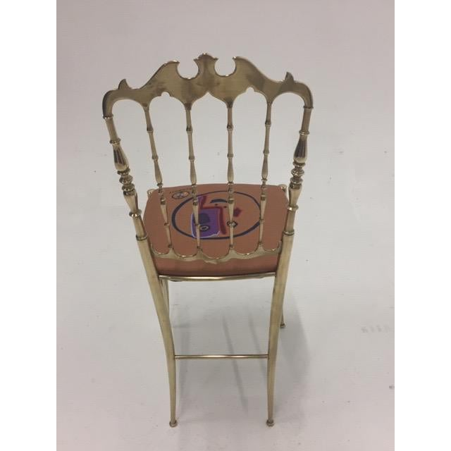 Metal 1960s Vintage Italian Solid Brass Chiavari Spindle Back Chair For Sale - Image 7 of 9