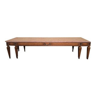 Traditional Marble Top Coffee Table For Sale