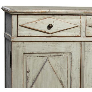 Antiqued Grey Farmhouse Cabinet Preview