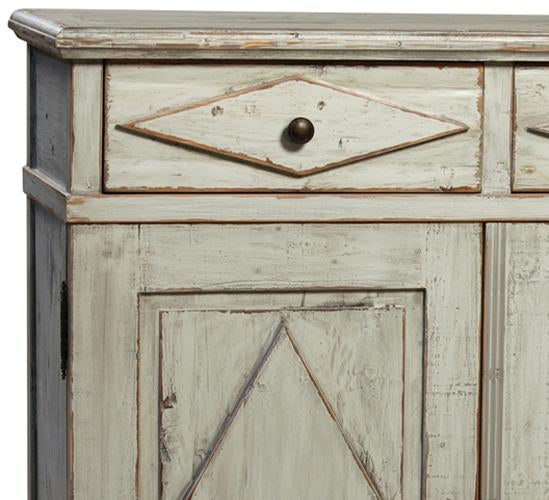 Reclaimed Pine Wood Farmhouse Style Cabinet With An Antiqued Distressed  Grey Painted Finish. This Cabinet