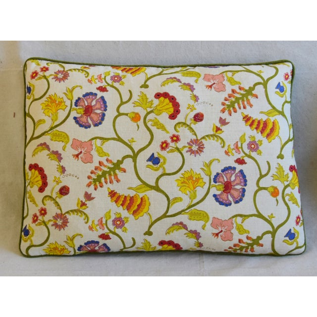 """Boho Chic Designer Floral Raoul & Scalamadre Mohair Pillows 23"""" X 16"""" - Pair For Sale - Image 3 of 13"""