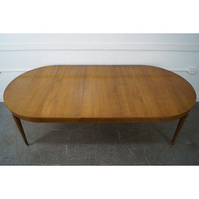 Kindel Vintage Regency Directoire Style Round Extension Dining Table - Image 7 of 10