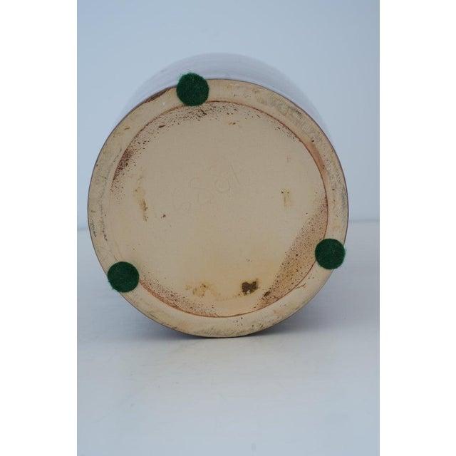 Ceramic Vintage Art Deco 1920s Egyptian Revival Handled Jug Urn Vase Glazed Ceramic For Sale - Image 7 of 9