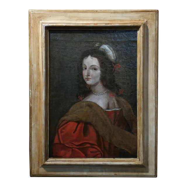 17th century Old Master-Portrait of a Elegant Woman- Oil painting For Sale