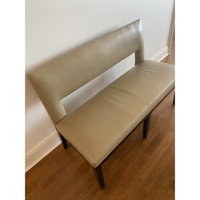 2000 - 2009 Holly Hunt Christian Liaigre Leather Velin Banquette Bench For Sale - Image 5 of 11