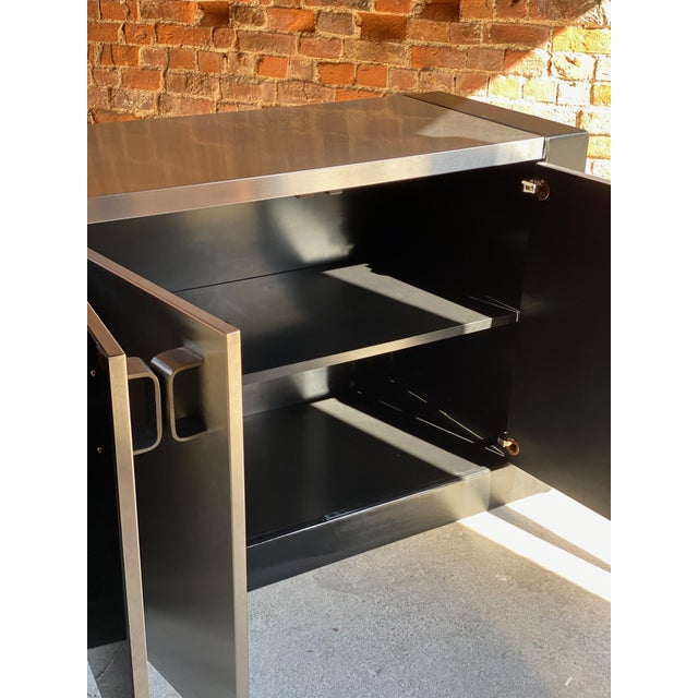 Paul Evans Custom Steel Sideboard Credenza, USA, circa 1970 For Sale - Image 9 of 13