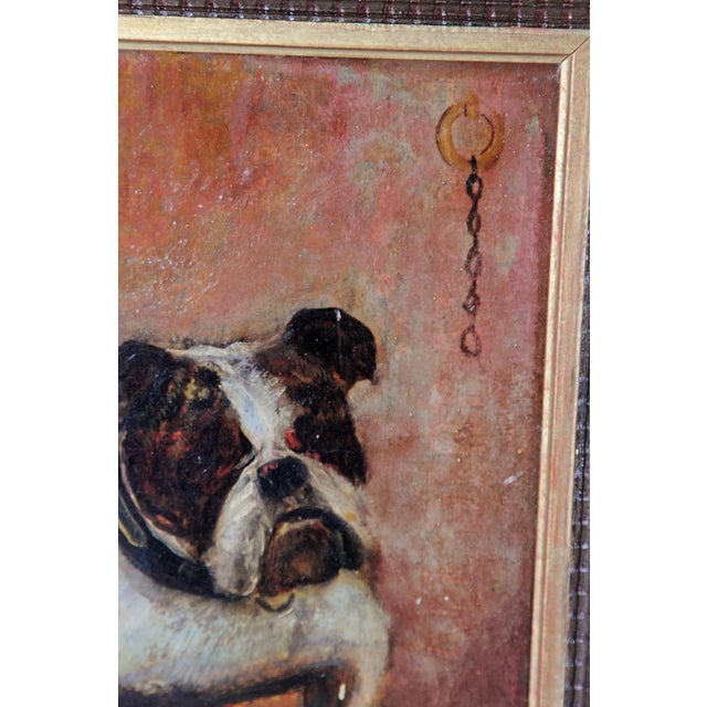 Small Oil Painting on Board of Dogs For Sale - Image 4 of 13