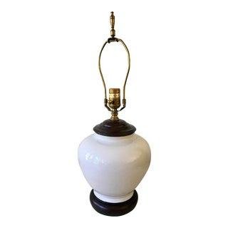 Mid-Century Kaiser Kuhn White Ceramic Lamp For Sale