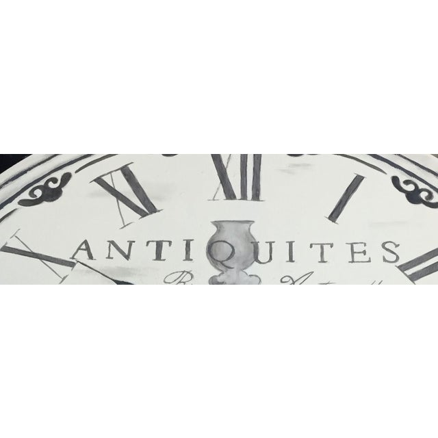 French Clock Accent Table For Sale - Image 6 of 7