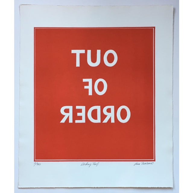 1970s Pop Art Text Print Signed by Jean Sariano For Sale - Image 11 of 11
