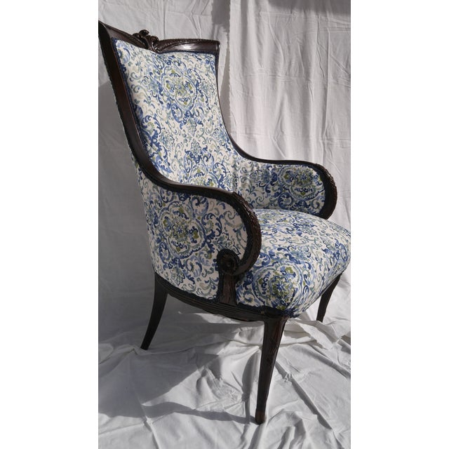Transitional Antique Wooden Arm Chair - Image 2 of 11