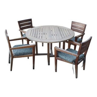 Authentic Teak Patio Table & Chairs