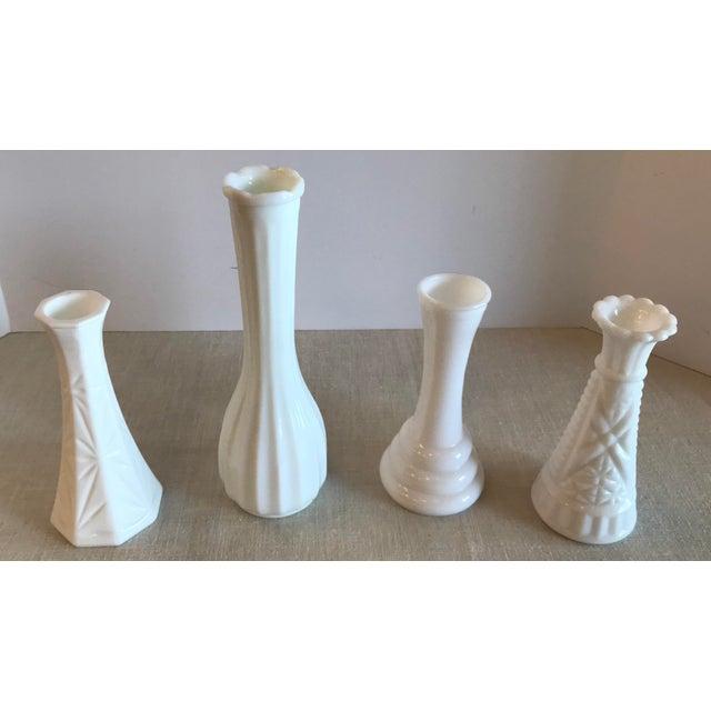 Vintage Milk Glass Bud Vases Set Of 4 Chairish