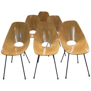 """Medea"" Chairs by Vittorio Nobili, Italy, 1955 - Set of 6 For Sale"