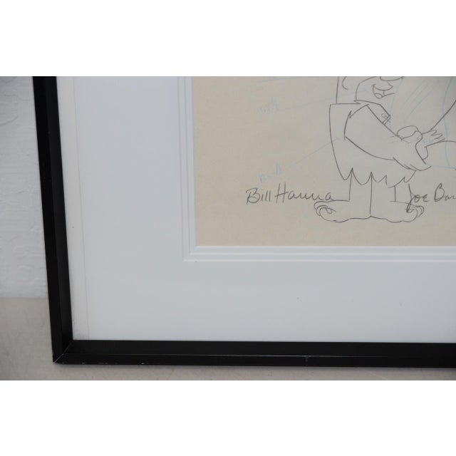 Aluminum Barney Rubble - Original Animation Art Signed by Hanna & Barbera C.1993 For Sale - Image 7 of 10