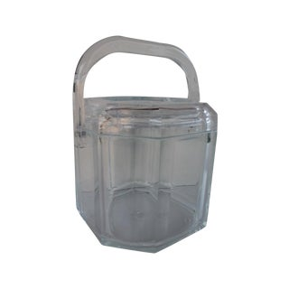 Albrizzi Style Mid-Century Lucite Ice Bucket
