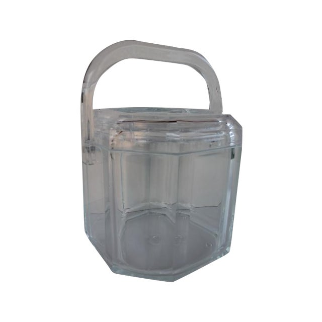 Albrizzi Style Mid-Century Lucite Ice Bucket - Image 1 of 9