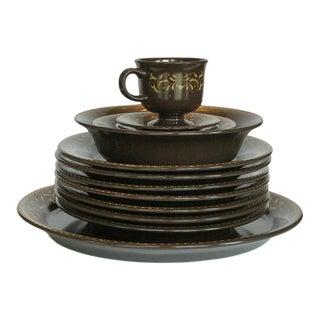 Vintage Franciscan Jamoca Dishes - Set of 14 For Sale
