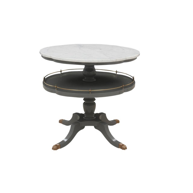 Quatrefoil Two Tier Table - Image 1 of 7