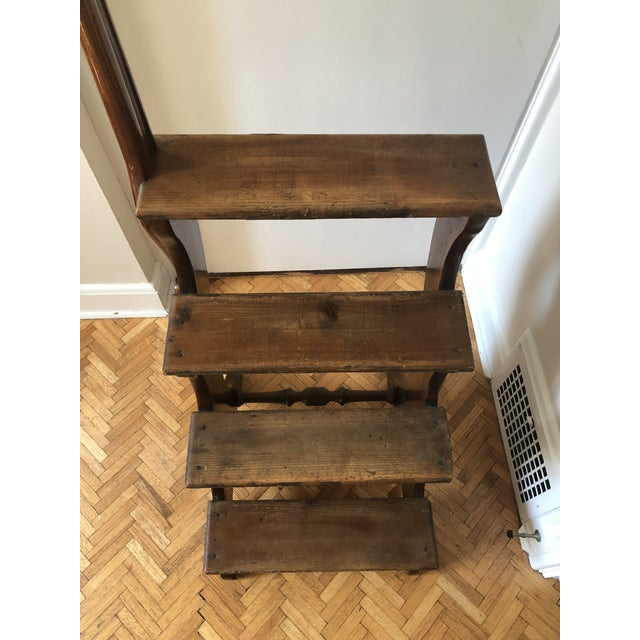 19th Century Regency Mahogany & Pine Library Steps For Sale - Image 12 of 13