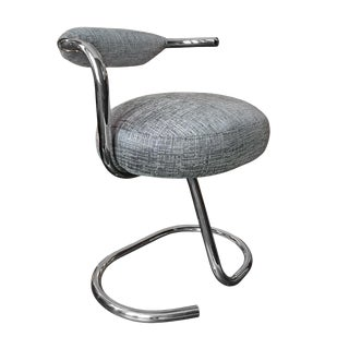 1970s Cobra Tubular Chrome Dining Chair by Giotto Stoppino For Sale