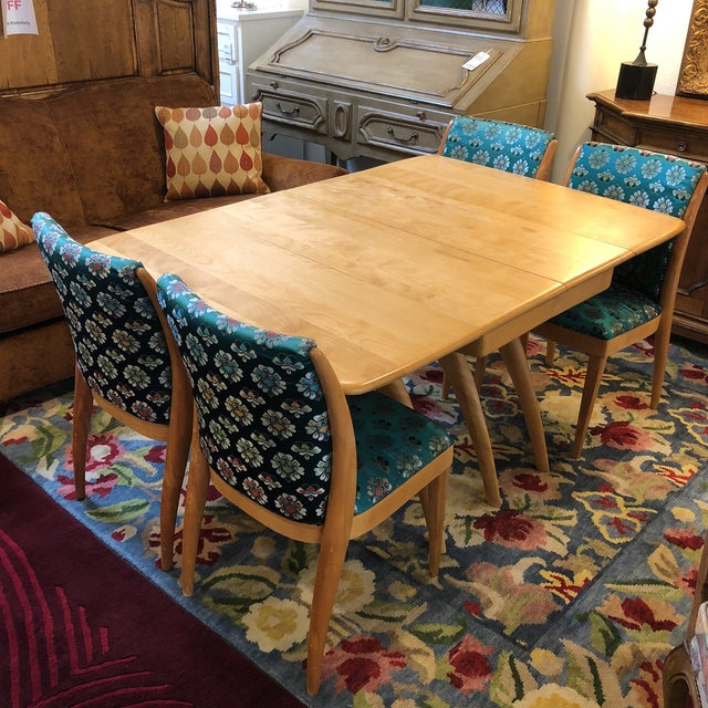 Heywood-Wakefield Drop Leaf Dining Table - Image 9 of 11