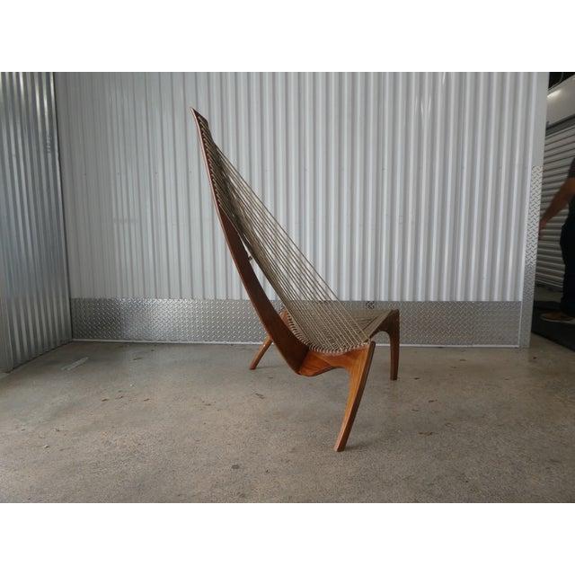 Mid-Century Modern Mid Century Modern Danish Modern Jorgen Hovelskov Harp Chair For Sale - Image 3 of 10