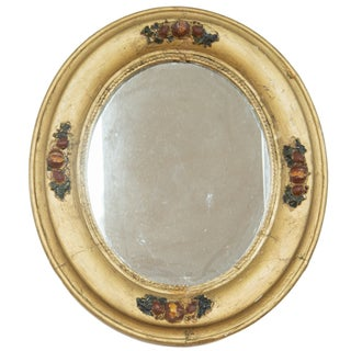 Vintage 1940s Gold Painted Mirror For Sale