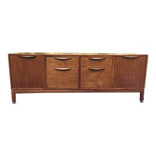 Jens Risom for Risom Design Inc. Walnut Credenza Room Divider For Sale